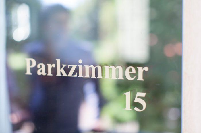 Parkzimmer Beschriftung