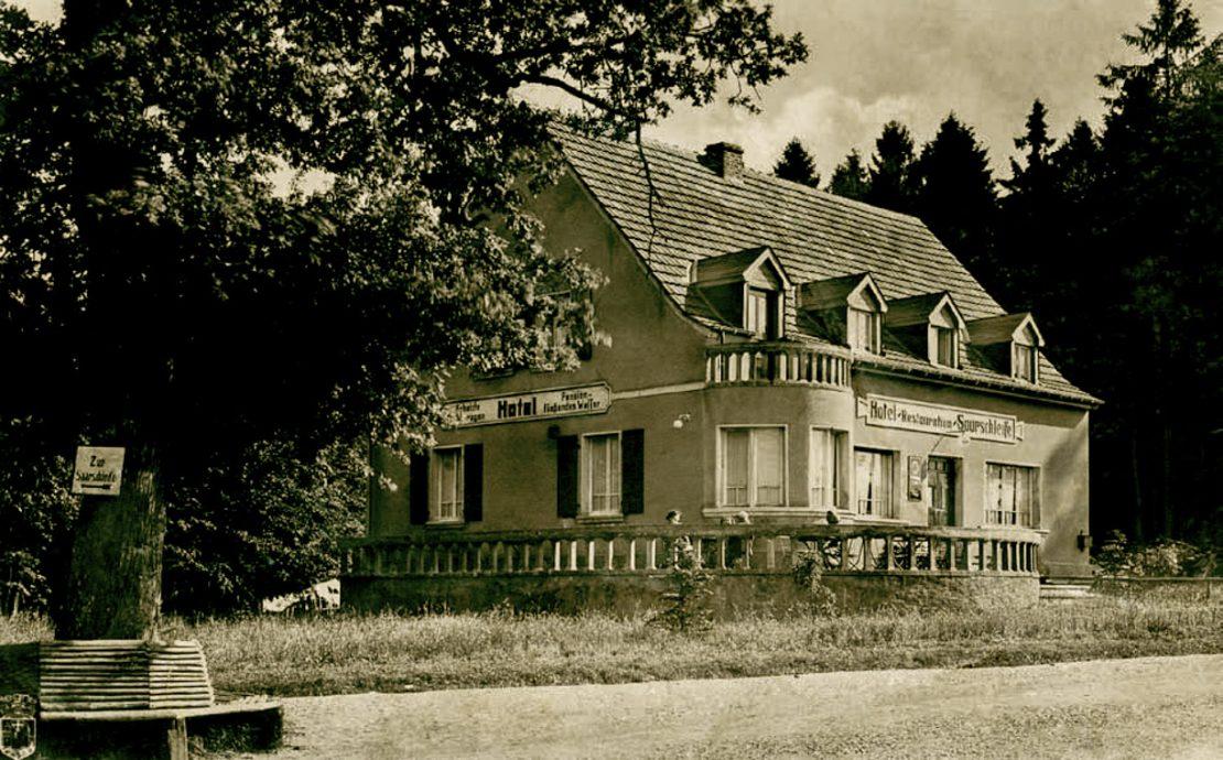 Historisches Foto Buchnas Landhotel Saarschleife
