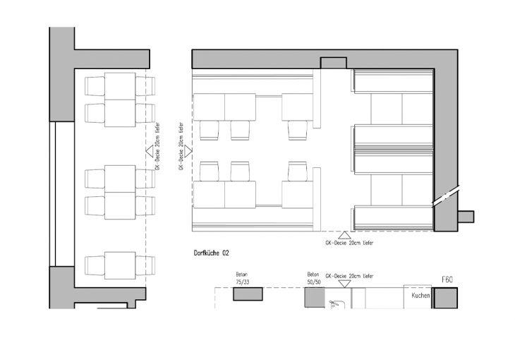 Dorfküche 2 Grundriss